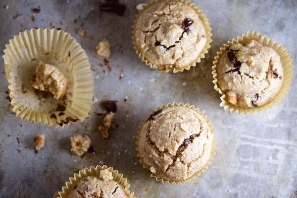 Muffins Con Almendra Chocolate Obscuro Y Sal