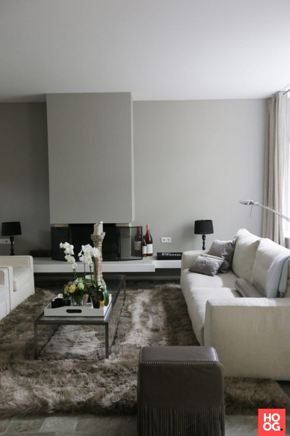 Moderne woonkamer inrichting met luxe meubels en accessoires ...