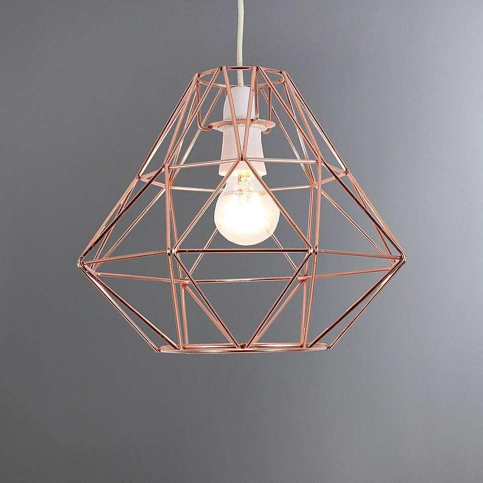 Kitchen Ceiling Lights Dunelm: Bremen Geometric Copper Pendant