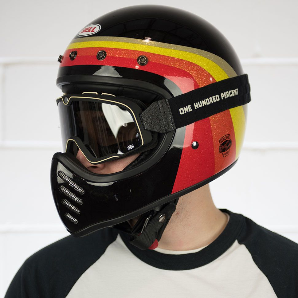 Bell Moto 3 >> Bell Moto 3 Chemical Candy Black Gold Helmet At Get Lowered Cycles