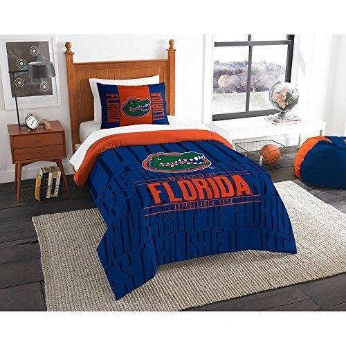 Ncaa Gators Comforter Twin Set Blue Orange Sports Patterned College Football Themed Bedding Team Logo Fan