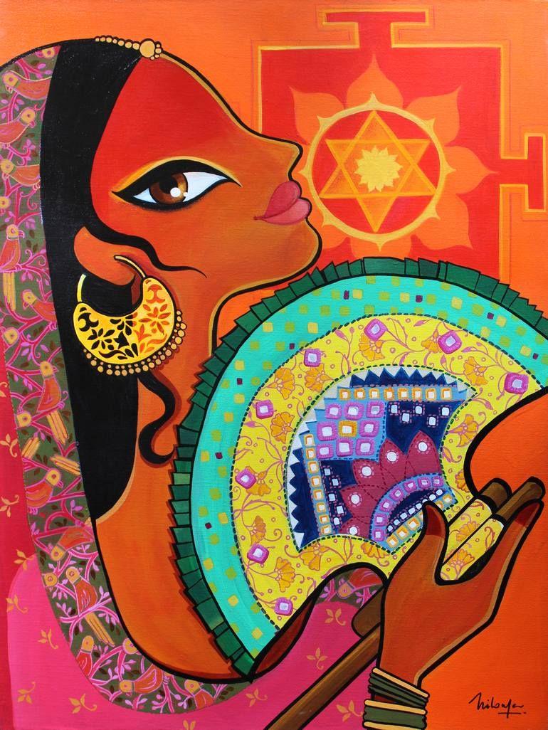 Punkha Painting Art, Indian folk art, Art painting