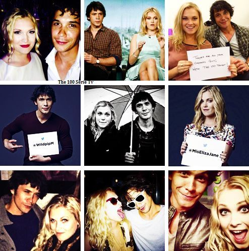 Bob Morley and Eliza Taylor (Bellamy and Clarke)- The 100