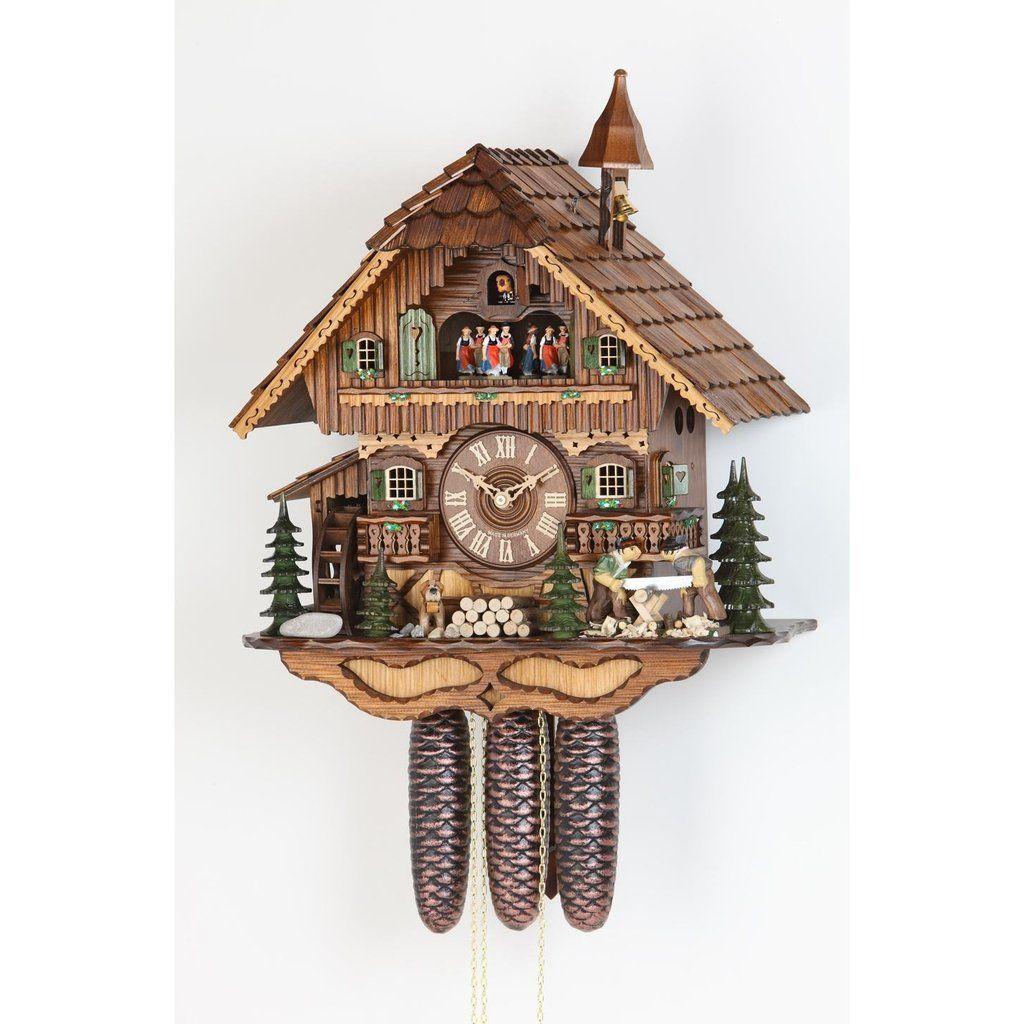 Hekas 8Day Movement Cuckoo Clock Chalet Style 46cm