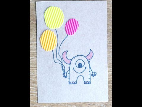 Diy Learn How To Make A Birthday Card For Boy Youtube Drawing