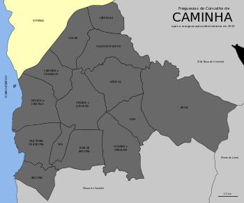 Freguesias do concelho de Caminha