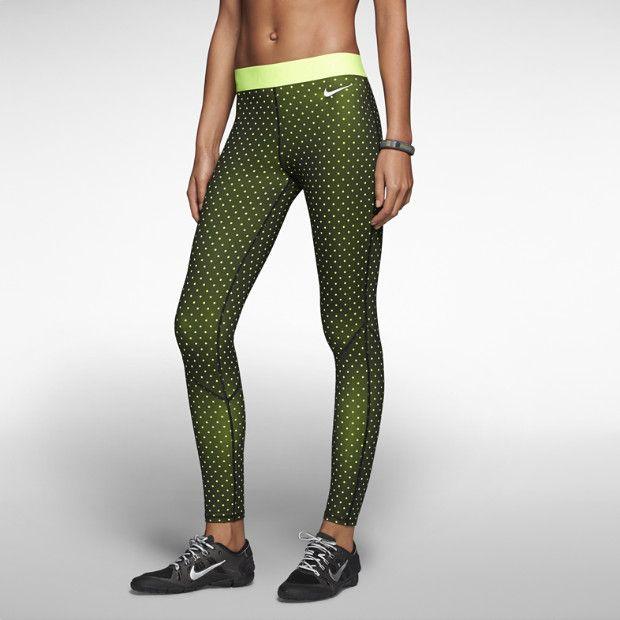 green nike running tights