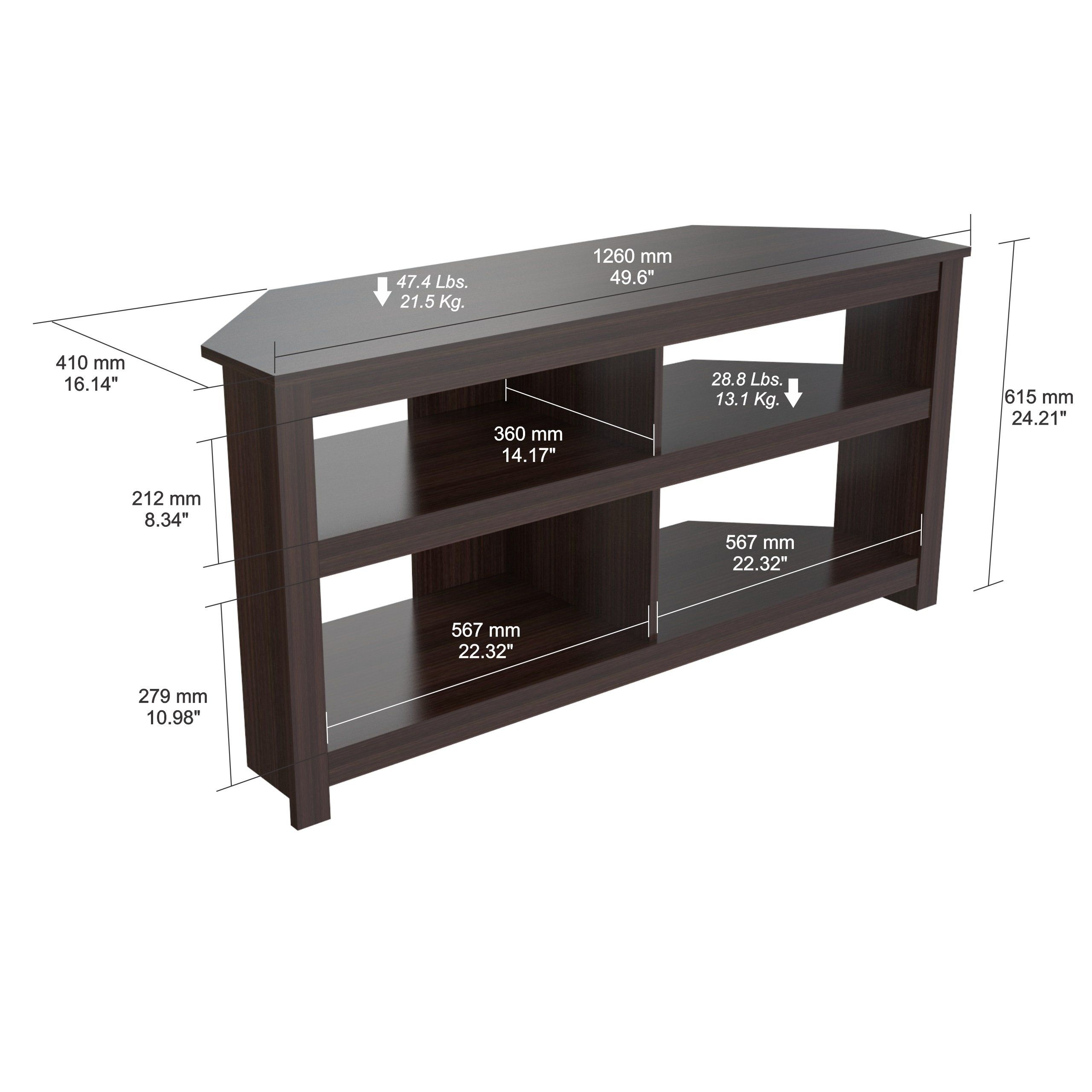 Inval Mtv13519 Espresso Wengue Wood 50 Corner Tv Stand To View Further For This Item Visit The Image Link This Is An Af Corner Tv Stand Corner Tv Tv Stand
