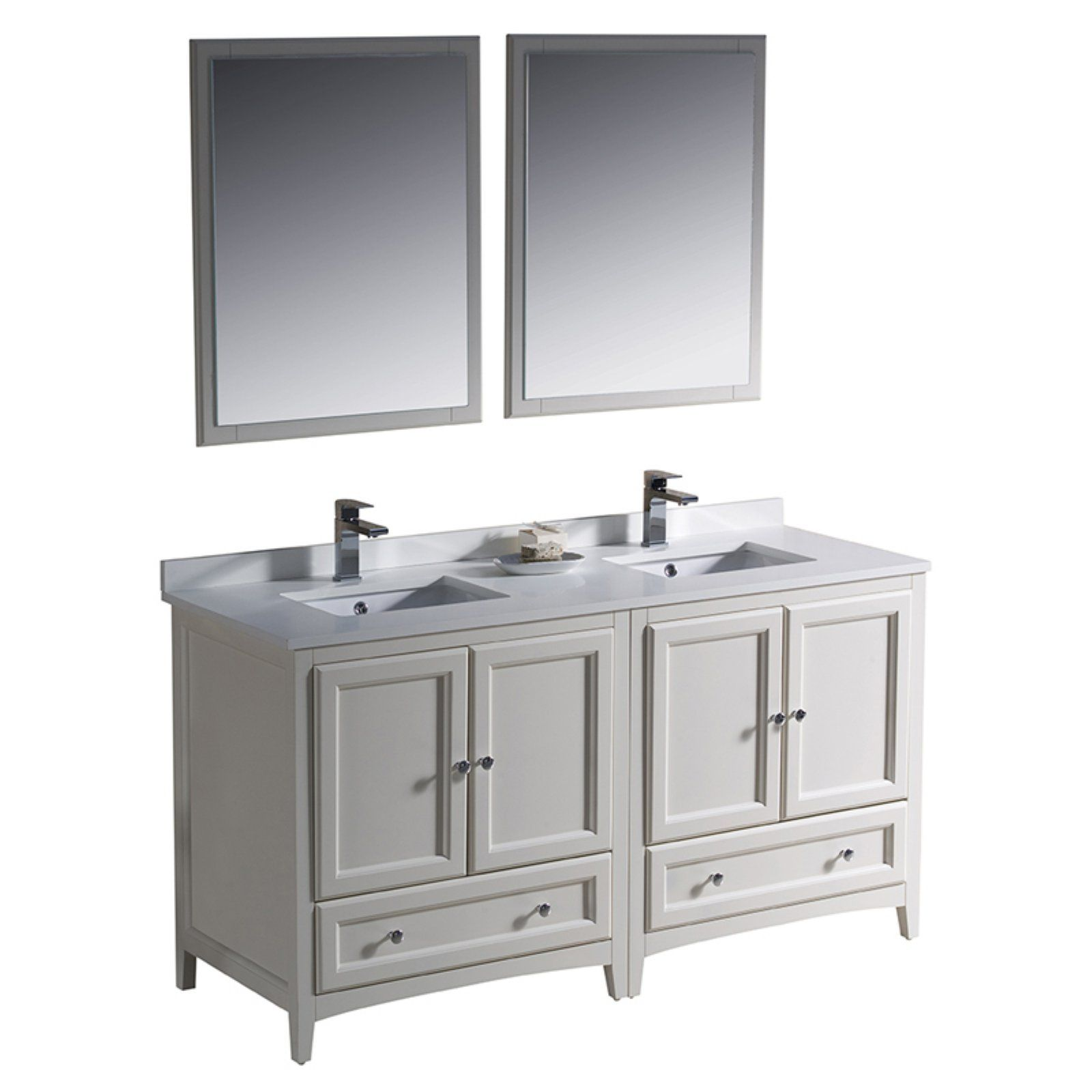 Fresca Fvn20 3030 Oxford 60 In Double Bathroom Vanity