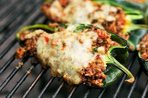 Grilling: Chorizo Stuffed Poblano Peppers