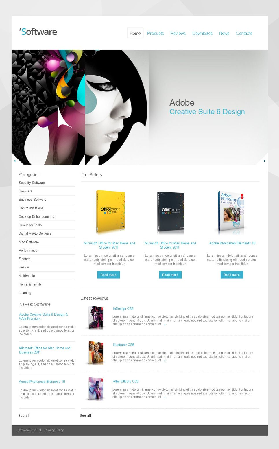 Software Company Moto Cms Html Template 42466 Html Templates Templates Web Design Software