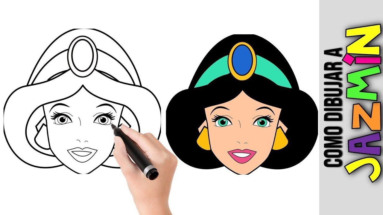 Princesas Disney Dibujos Para Colorear De Jasmín: Como Dibujar A Jazmin Princesa De Disney Dibujos Fciles Para