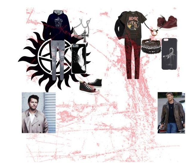 """Dean X Cas"" by bripots on Polyvore featuring Superdry, Yves Saint Laurent, Calvin Klein, AMIRI, Converse, David Yurman, Off-White and Handle"