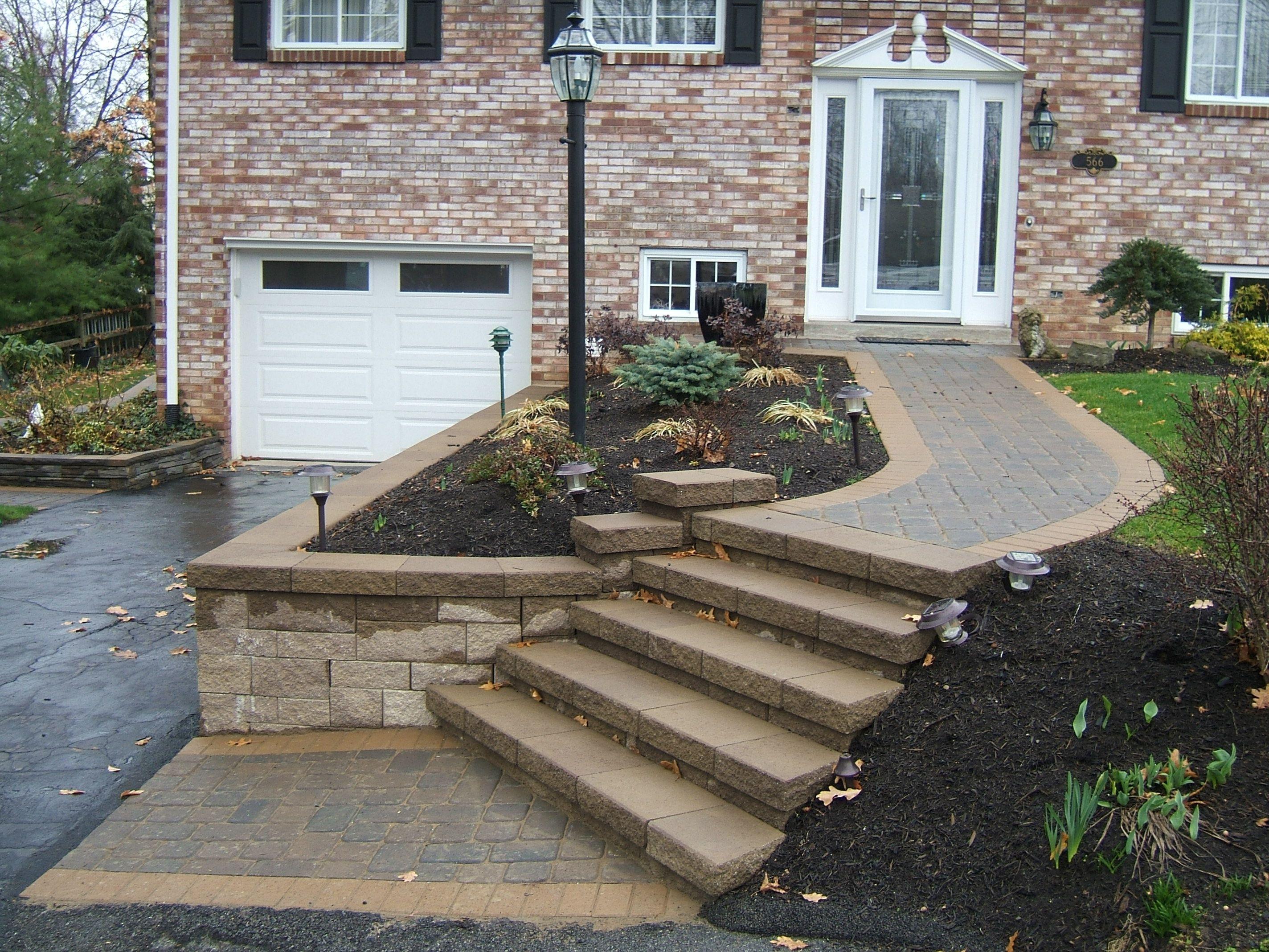 Versa lok Wall & Steps   Landscaping retaining walls, Front porch ...