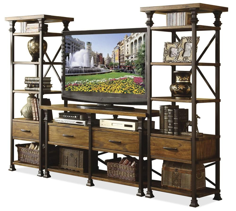 Search For Furniture: Angle Iron Cabinet With Wood Panels