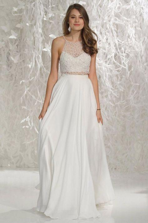 Look de noiva boho: Saia e cropped | vestidos de noiva | Pinterest