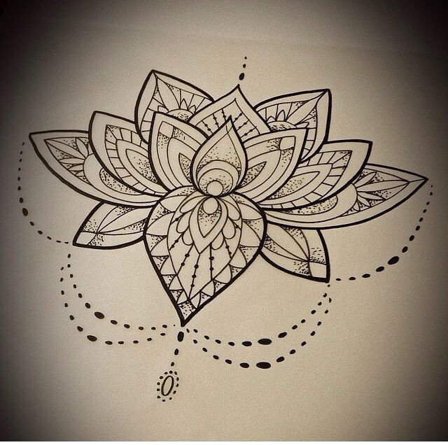 Loto flower tattoo buscar con google tattoos - Fleur de lotus mandala ...