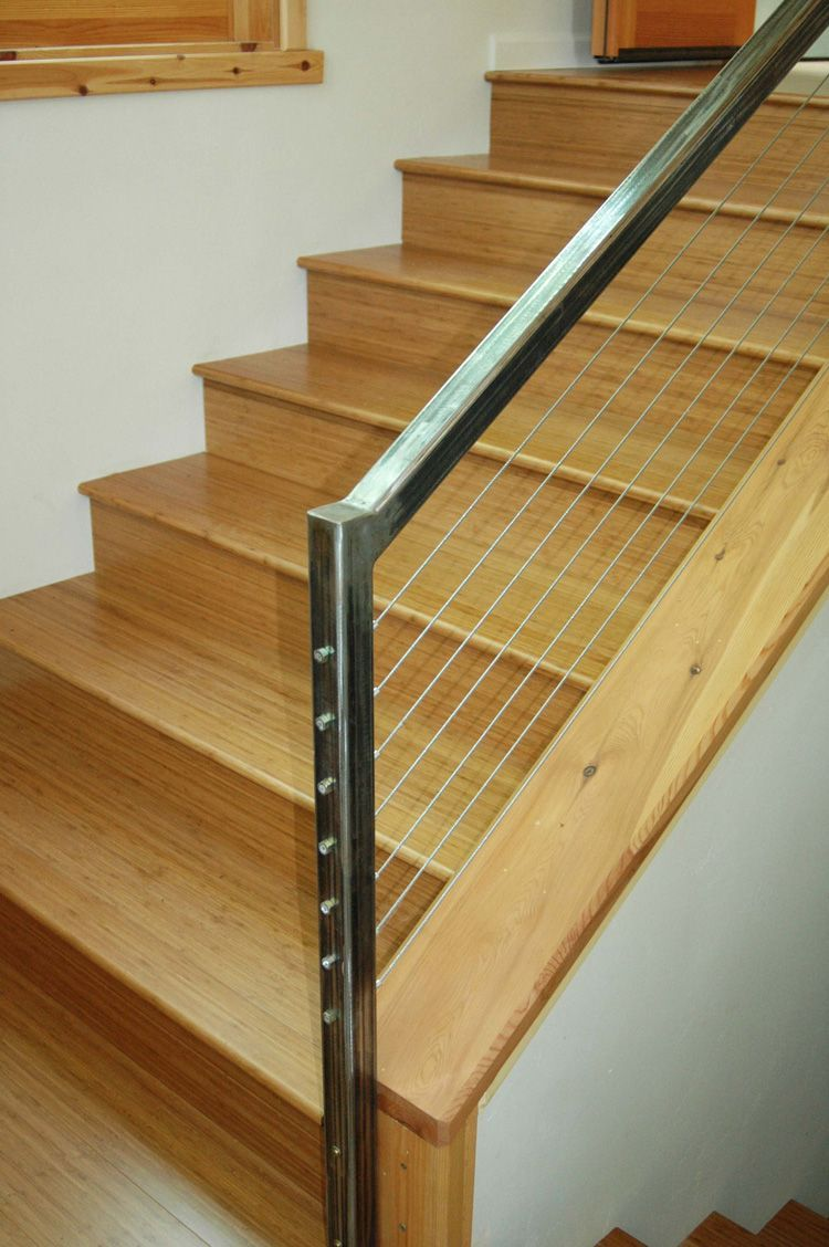 Natural Bamboo Stair Treads From Cali Bamboo