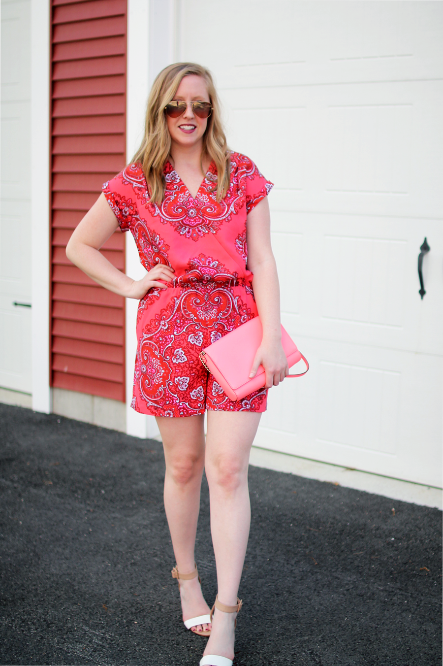 banana republic paisley print romper, kate spade purse, #itsbananas ...