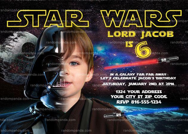Personalize Star Wars Invitation Darth Vader Party Star Wars Birthday Invite Star Wars Invitations Darth Vader Party Star Wars Birthday