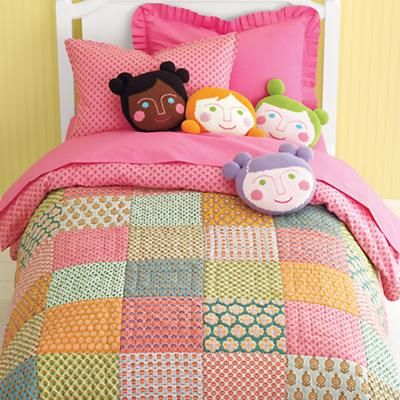 I've been looking at this Land of Nod quilt since Sophie was born.  Would love to put it in the girls room.