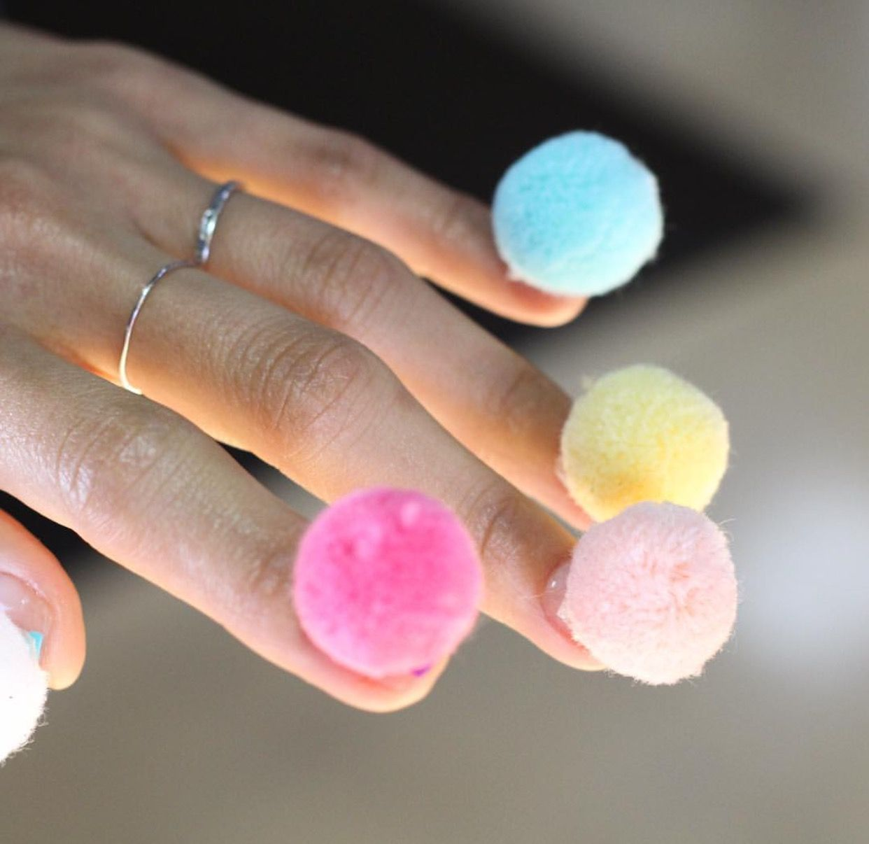 Pompom unistella nails, another weird one | Nail Trends | Pinterest ...