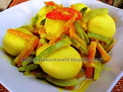 Resep Telur Bumbu Acar Kuning Telur Bumbu Resep Resep Masakan Indonesia