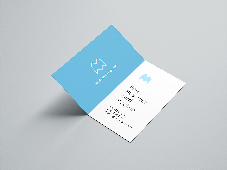 Folded Business Card Free Mockup Free Mockup Free Business Card Mockup Folded Business Cards Business Card Mock Up