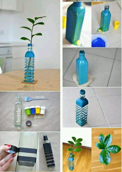 How to Decorate a bottle Recycle project Botellas decoradas