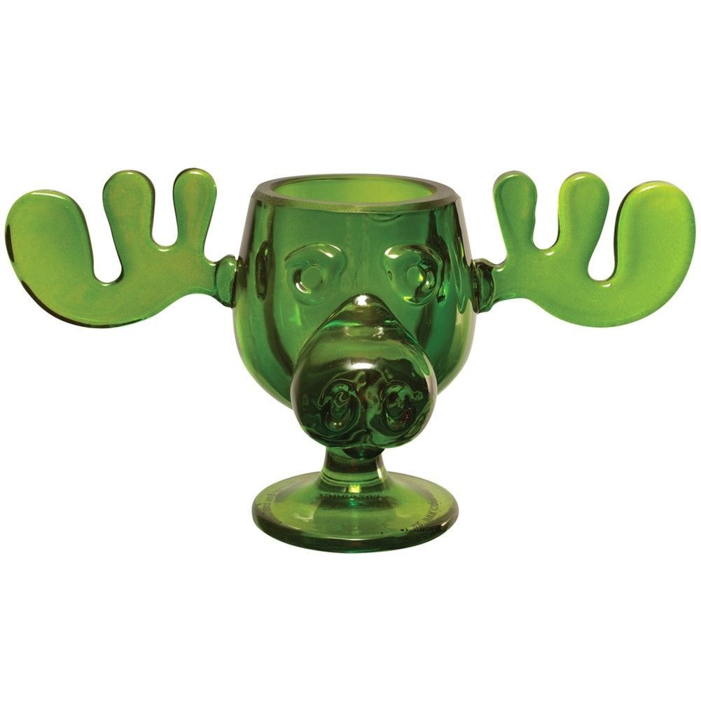Christmas Vacation Green Glass Moose Mug Moose mug