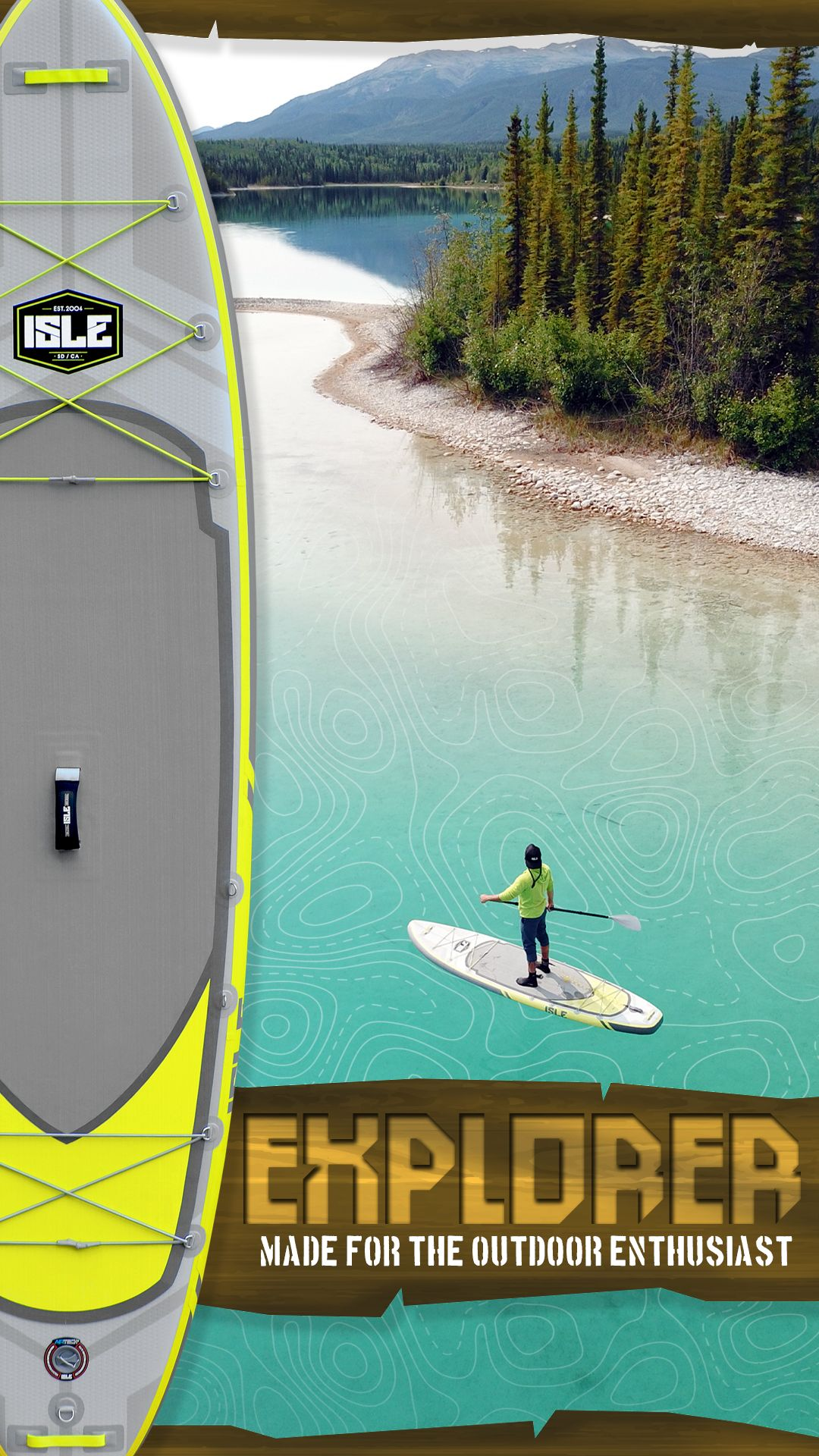 aad5ca926cd5 Explore secluded lakes and trek into any hard to reach destination with our  ultimate expedition explorer paddle board.