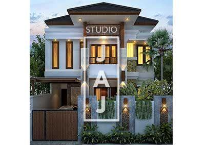 desain rumah 2.5 lantai luas bangunan 200m2 bp hans di