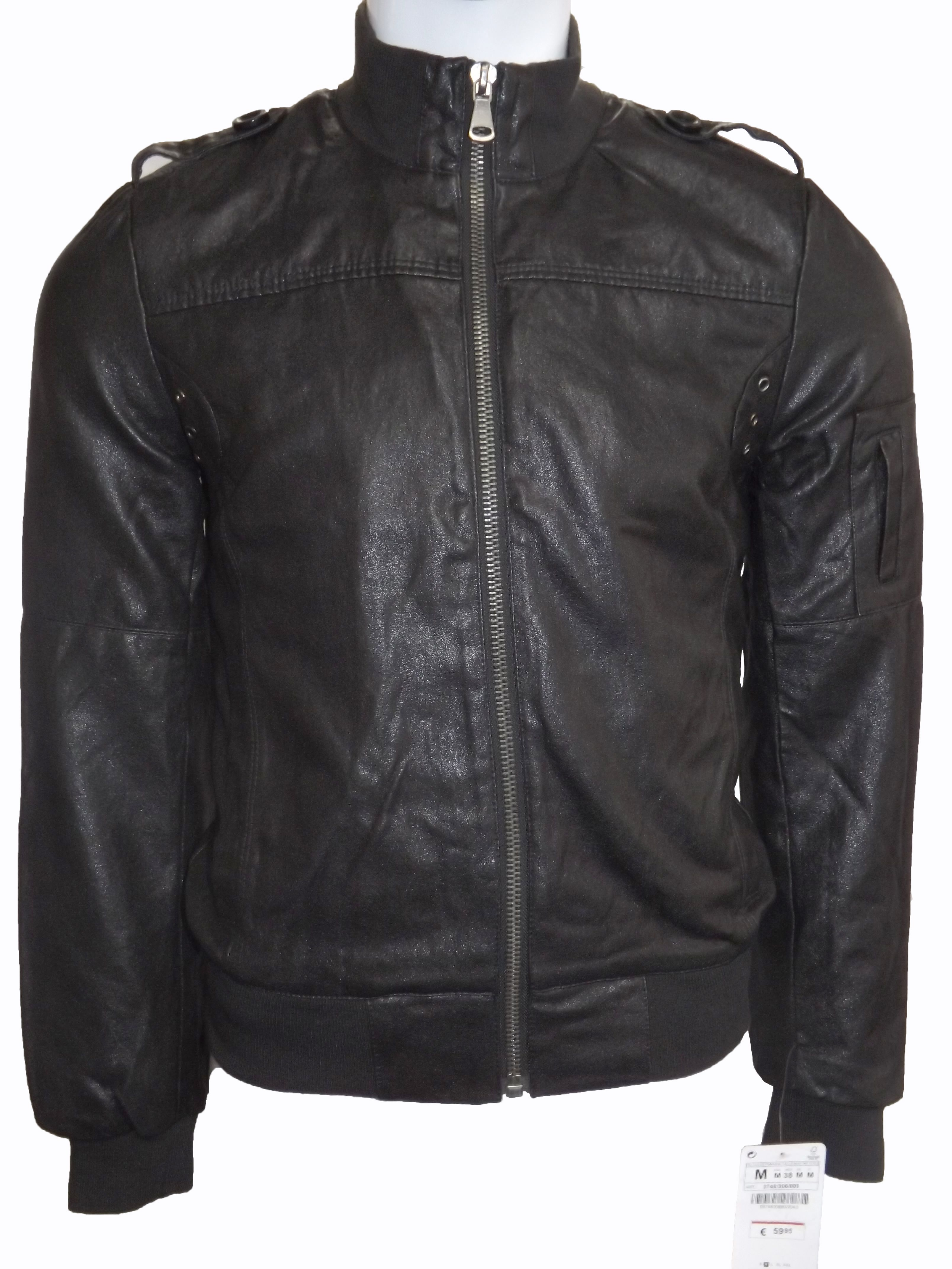 a363a925 Zara Mens Faux Leather Biker Jacket. You can purchase it on www ...