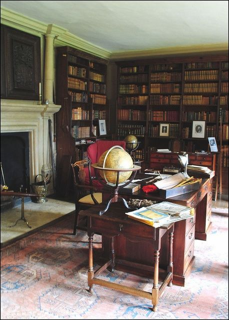 Olkd Study Room: Home Libraries, Room Book, Library Study