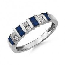 Angara Womens Semi Eternity Sapphire and Diamond Classic Wedding Band jtJ21l