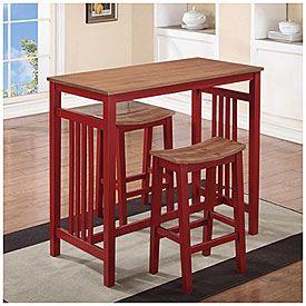 3 Piece Red Breakfast Dining Set Big Lots 159 99