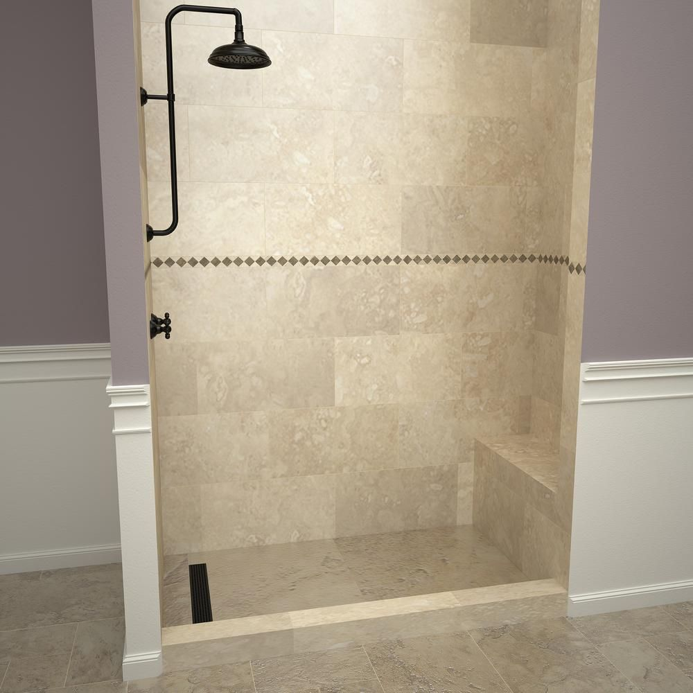 Tile Redi 30 In X 60 In Single Threshold Shower Base In Gray And