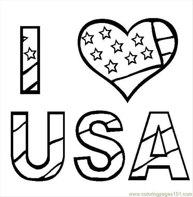 I Love USA printable coloring pages for kids boys and girls | Art ...