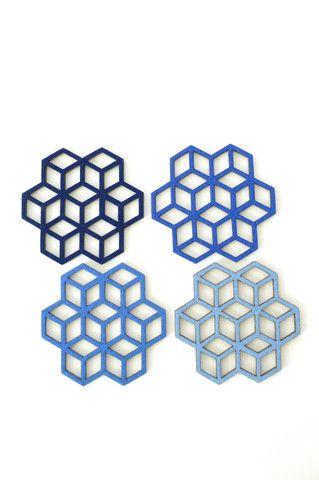 Cube Coasters. Handmade in the USA. Free Gift wrap. www.koromiko.com