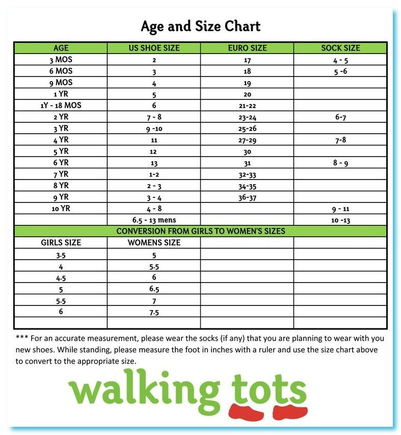 11 year old shoe size us
