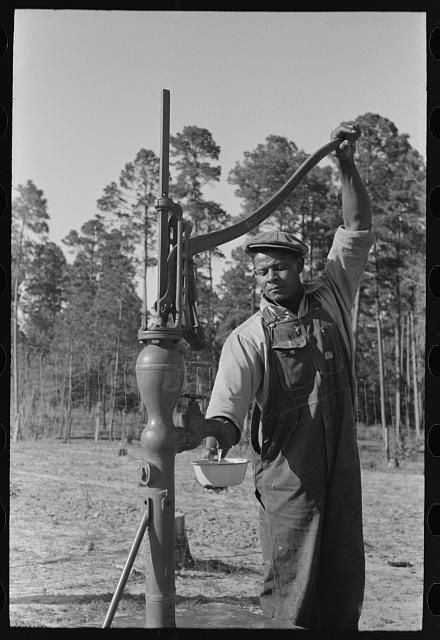 Fsa Farm Security Administration Client Pumping Water From His Sanitary Well Sabine Farms Marshall Texas Old Pictures Hand Water Pump Well Pump