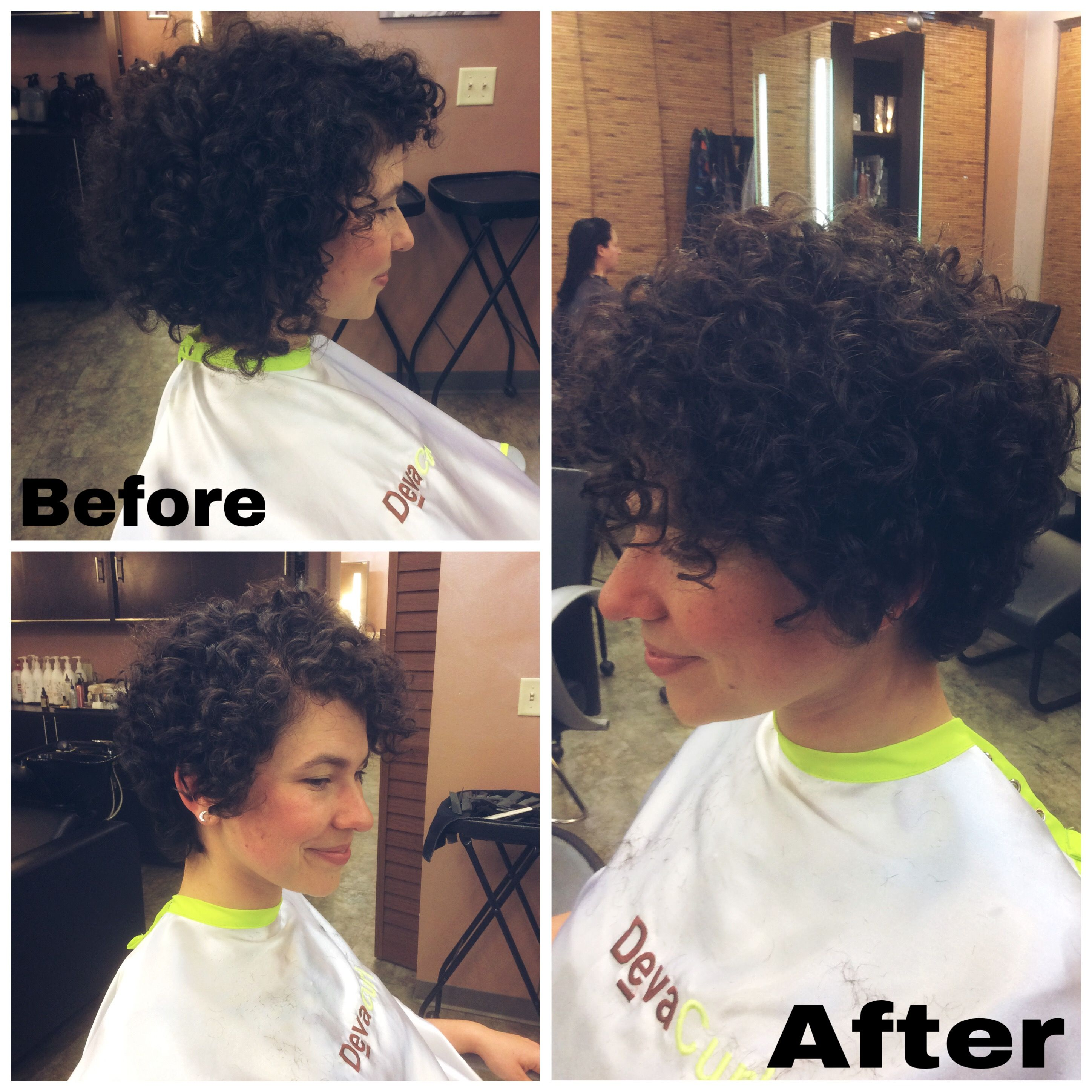 Curly Pixie Haircut Transformation By Whitneycoburn Devacurl Curlyhaircut Curly Hair Styles Short Hair Haircuts Curly Pixie Haircuts