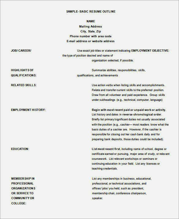 Free Indesign Alternative Resume Template Resume Outline Basic Resume Resume Template Word