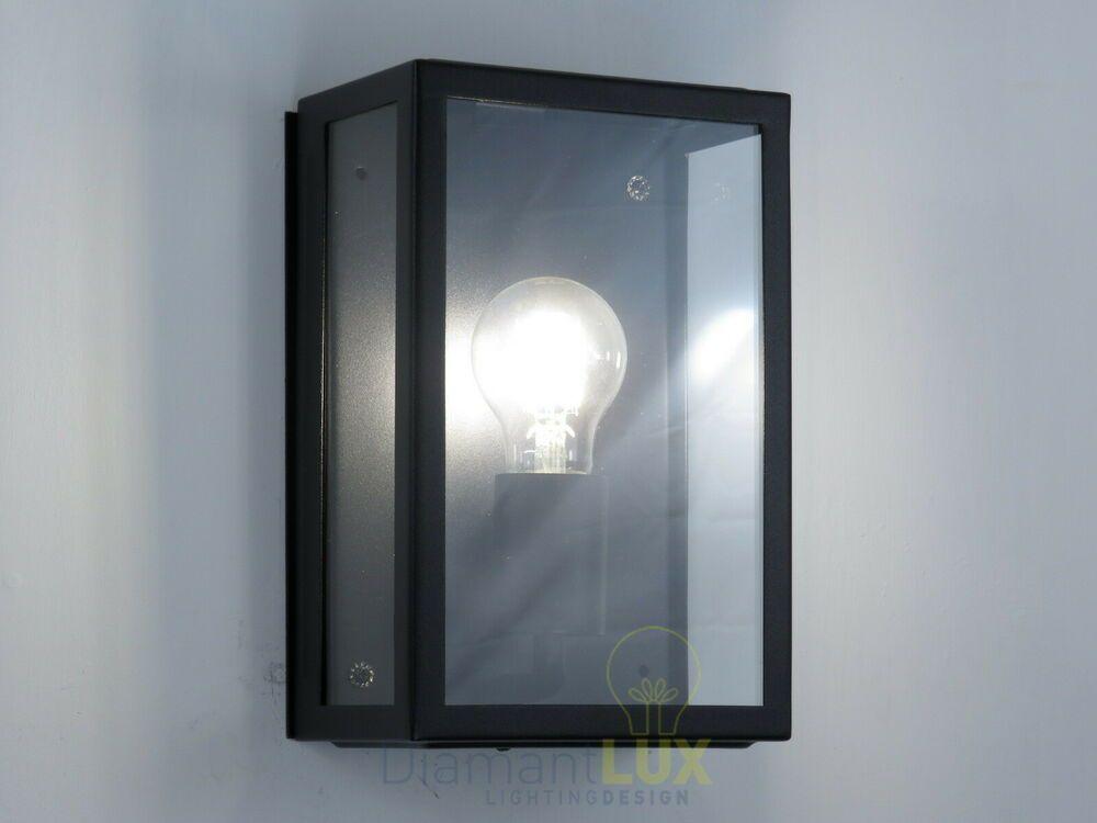 Applique lampada per esterno moderno rustico vintage rettangolare