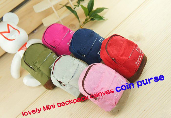 Free Shipping New 2014 Coin Purses Men/Women/Chilren Cute Canvas  Mini Backpack Purse Key Bag lovely Coin Wallet Key Wallet $6.90 - 7.50