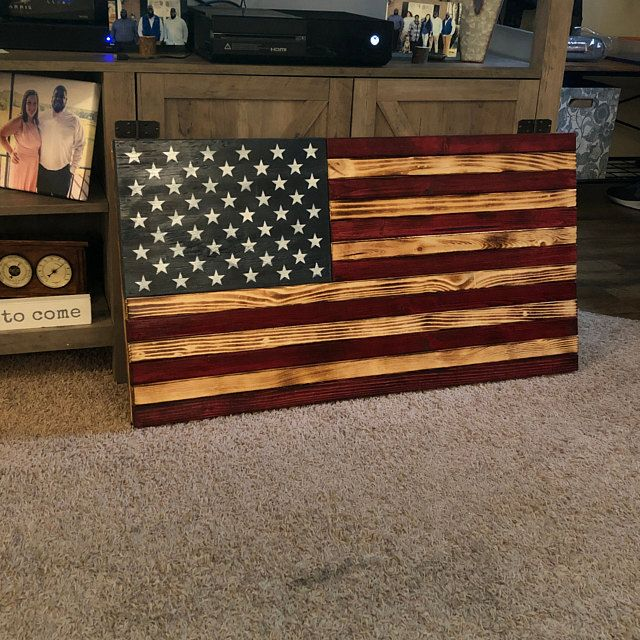 LARGE (19x36), Rustic Flag, Wood American Flag, Pallet American Flag, Wood Flag, Wooden Flag, Wood Sign, Wood Art, Wood Working