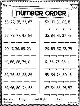 Pin By Magali Ressia On Maths First Grade Math Worksheets 2nd Grade Math Worksheets 1st Grade Math Worksheets Comparing numbers worksheets 2nd grade
