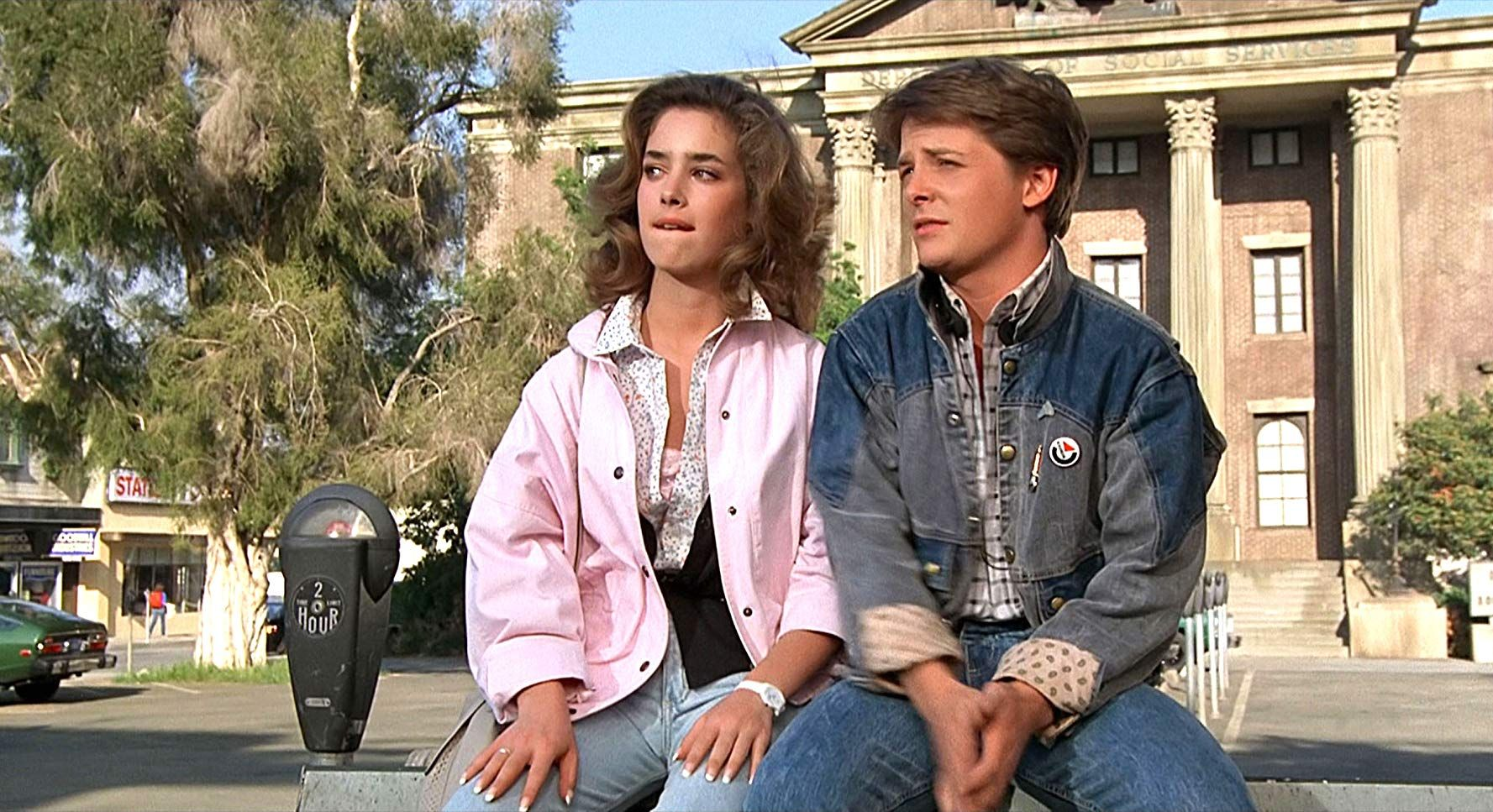 Back To The Future 1985 Back To The Future Claudia Wells Bomber Jacket [ 967 x 1777 Pixel ]