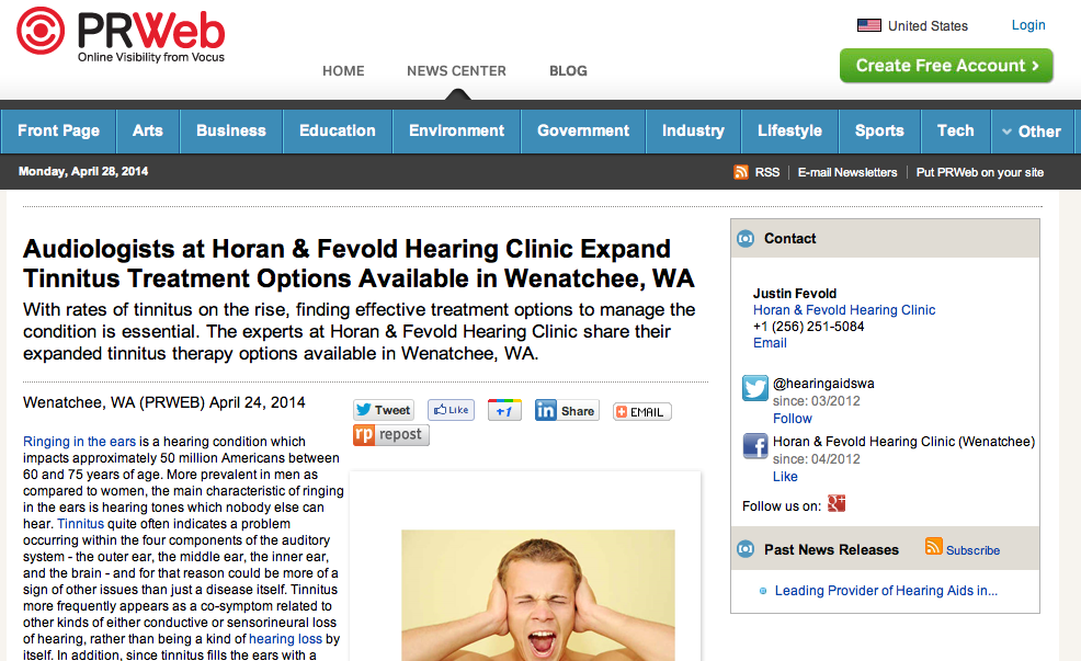 Audiologists at Horan & Fevold Hearing Clinic Expand