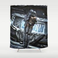 Sexy Sci-Fi 3 Shower Curtain